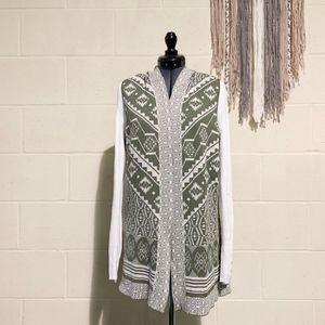 Hippie Rose - Hooded Vest - Olive Green - M